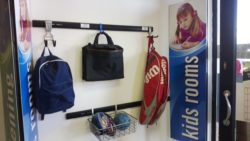 Our hook and rail systems are used in many childrens rooms to hang from school bags to jackets