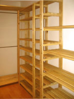 Our shelving is perfect for walk in closets, our shelving is customisable, and with the addition of clothing rods and custom height of shelves