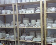 Crockery Shelf in Hotel