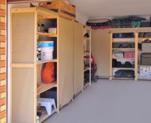 Garage-Shelves-With-Canvas-Covers